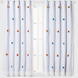 Black out tassel curtains